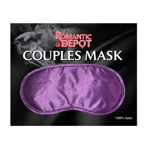 Couples Satin Love Mask  (Black, Red, Purple)